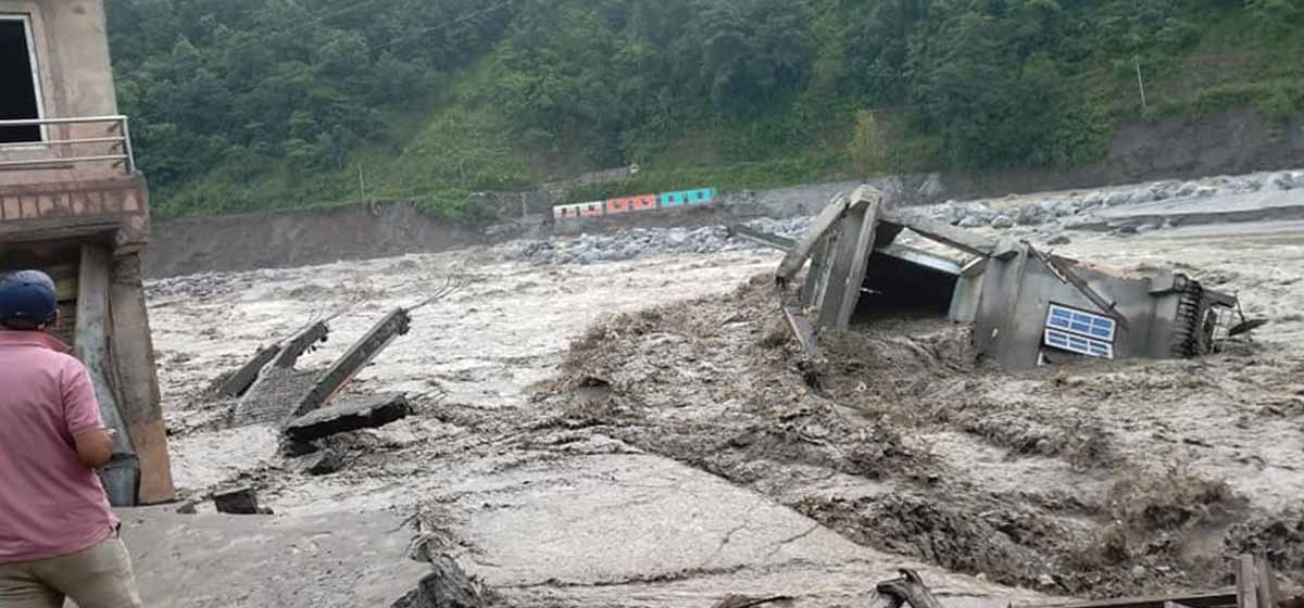 Work underway to take Melamchi and Indrawati rivers back to their original courses