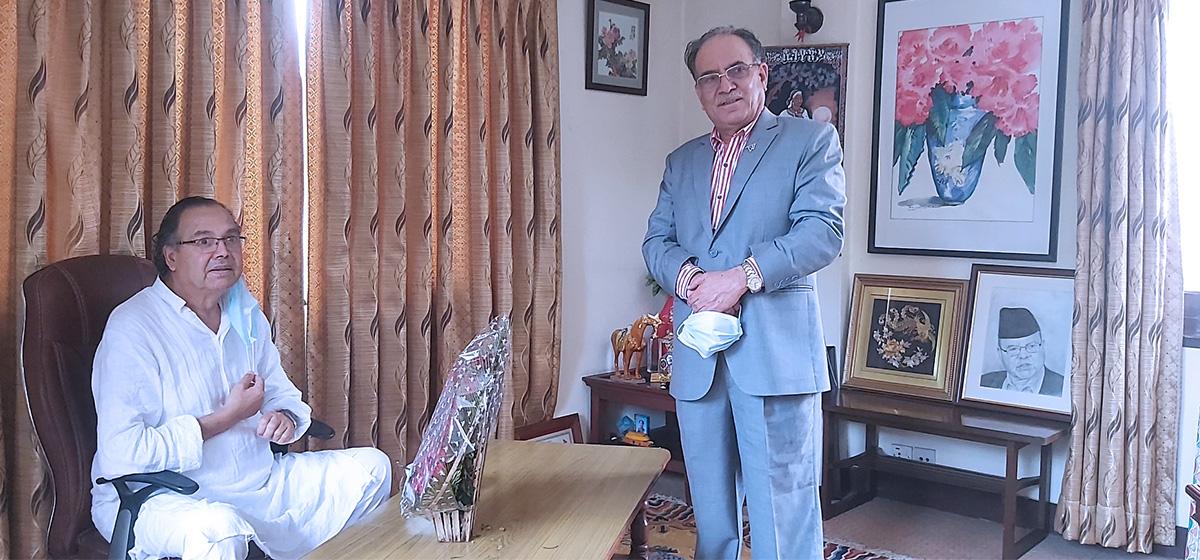 Dahal reaches Dallu to meet CPN (Unified Socialist) senior leader Khanal