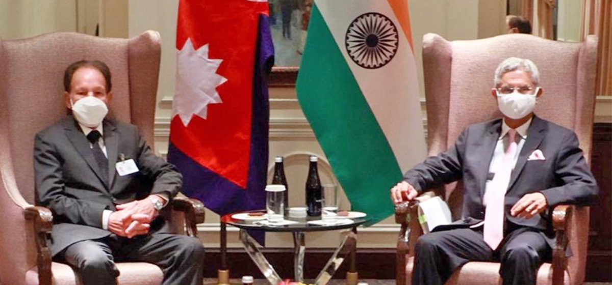 Foreign Minister Dr Khadka holds meeting with Indian External Affairs Minister