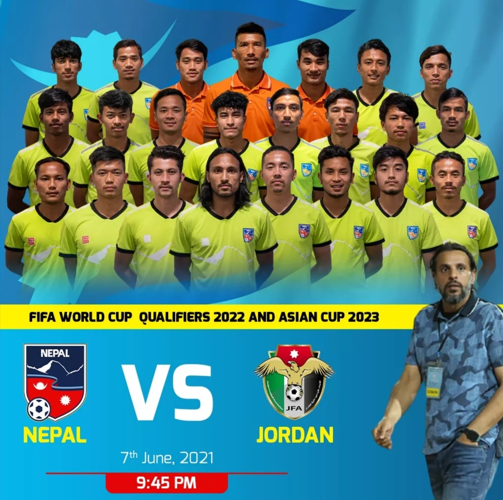 Nepal takes on Jordan in World Cup Qualifiers