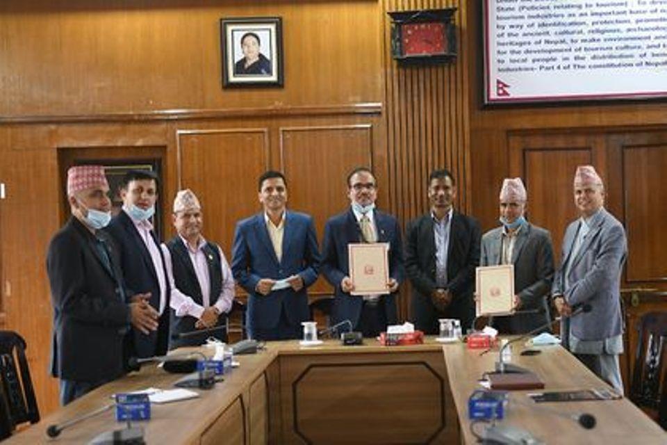 Karnali govt, CAAN sign MoU for development of Surkhet Airport