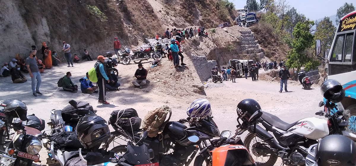 One dead, 22 injured in bus accident in Khotang