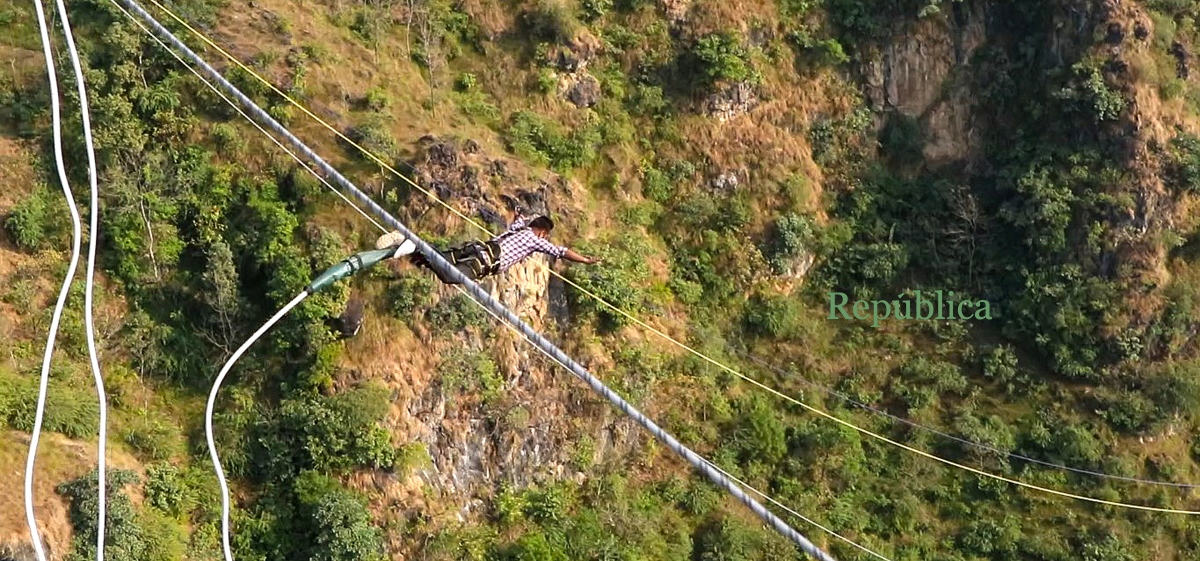 PHOTOS: Try bungee in Kushma, Parbat? Why not!