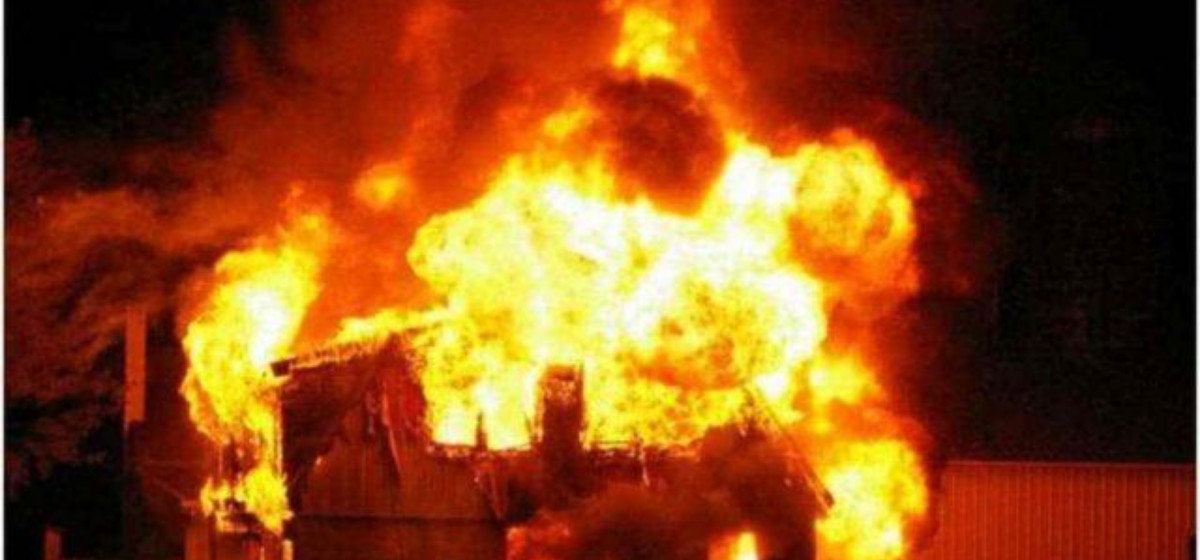 Drinking water pipes worth hundreds of thousands of rupees gutted in fire in Rupandehi
