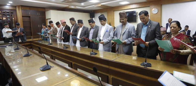 12 from NC, 3 from NLF sworn in as state ministers