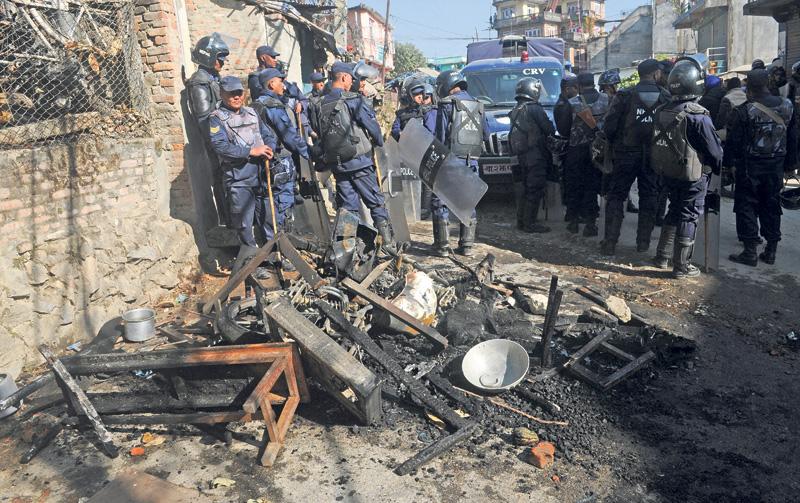 Bauddha cop beat vandalized over cabbie's 'suspicious' death