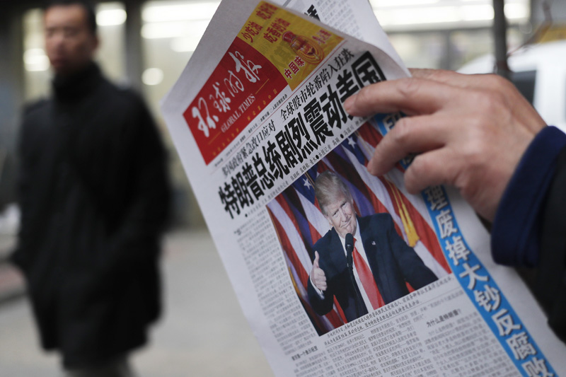 Chinese newspaper calls Trump naive after Taiwan comments