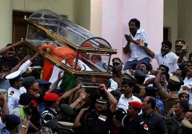 Jayalalithaa buried, Panneerselvam named successor to unite AIADMK