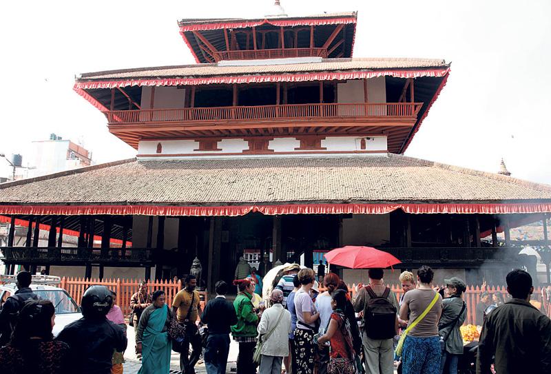 Mandala found at Kasthamandap foundation