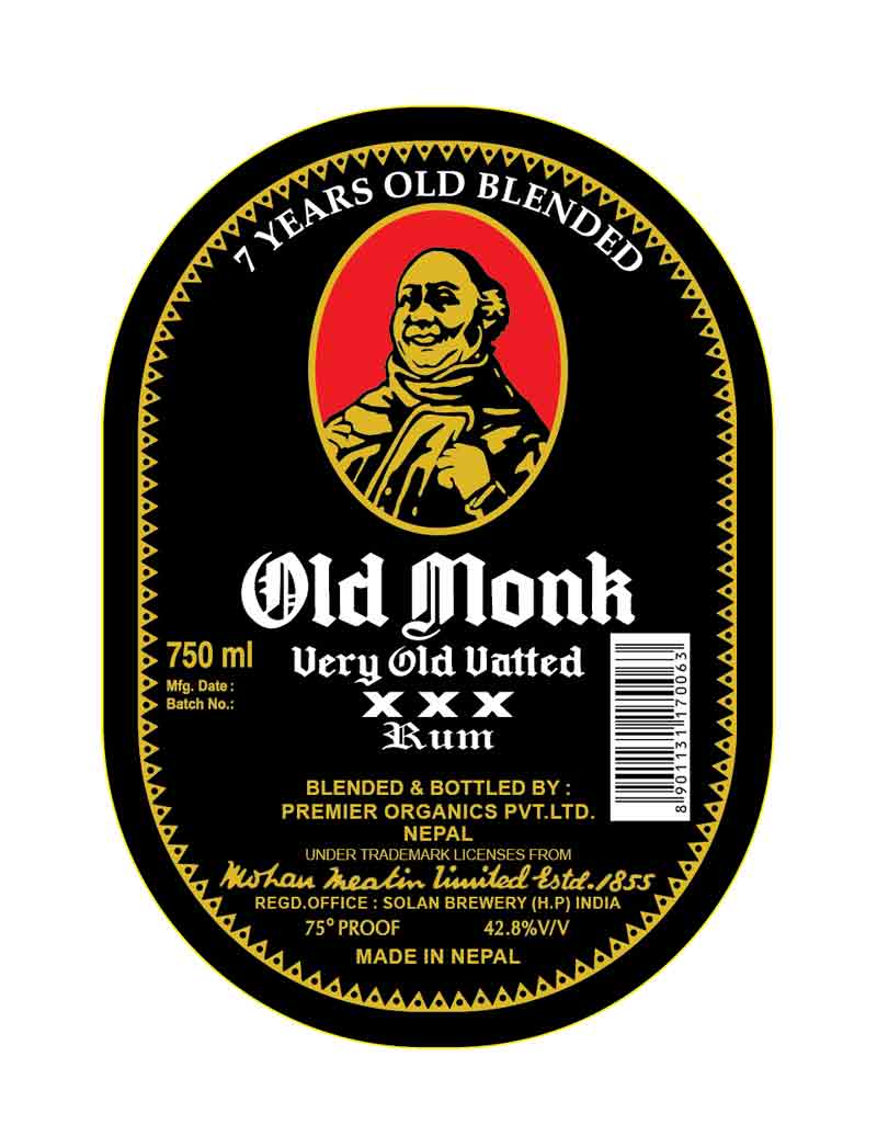 Old Monk Rum now in Nepal