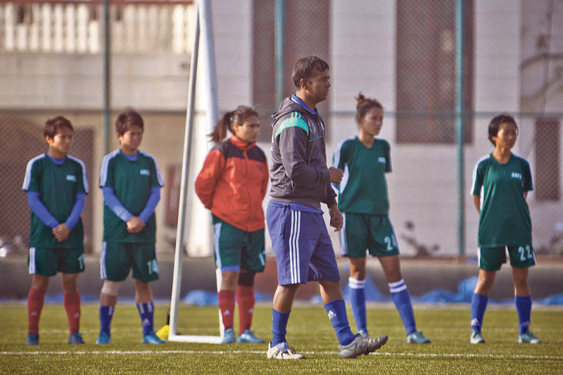 Seven new faces in women's football team