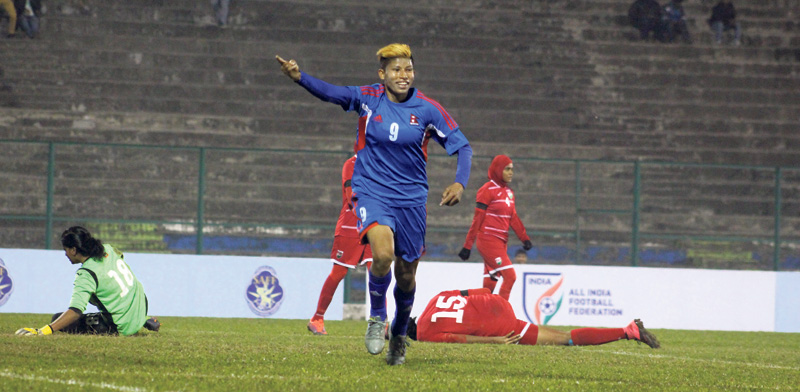Nepal closer to SAFF semifinal, Maldives defeated 9-0