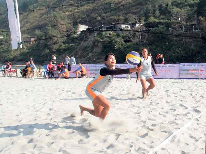 Departmental teams dominate beach volleyball