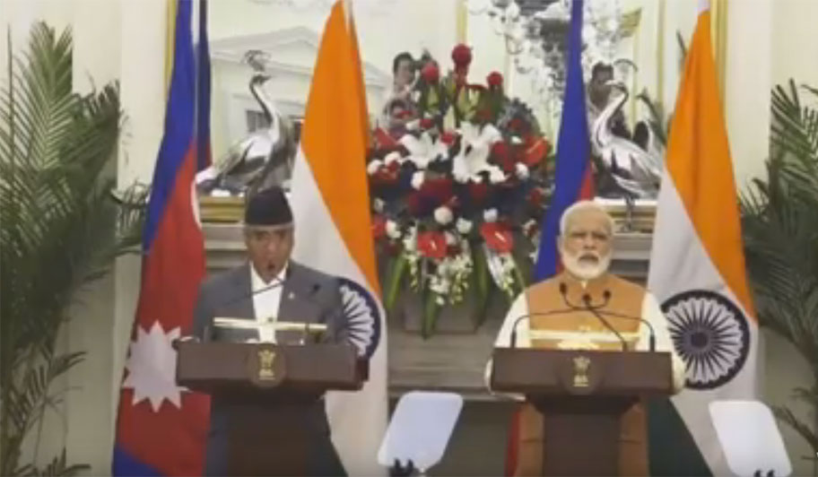Bilateral talks between PM Deuba and Indian PM Modi begin