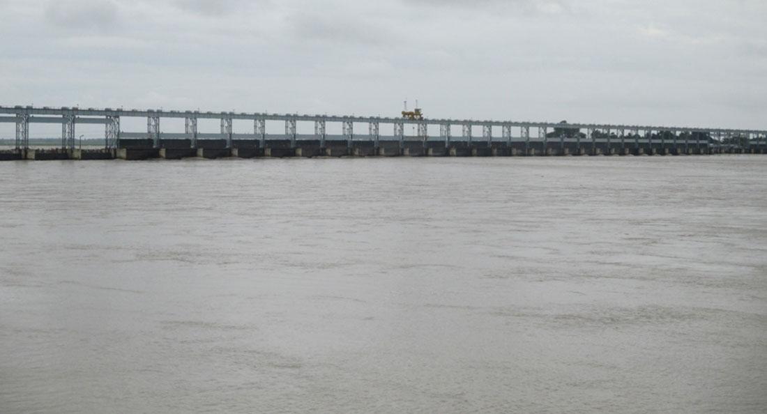 Water level in Saptakoshi increases, 21 sluice gates opened