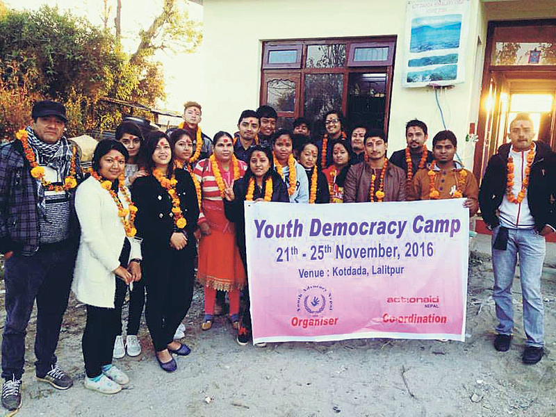 Youth Democracy Camp at Kotdanda