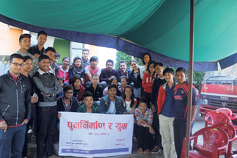 Youth unite to press for speedy reconstruction