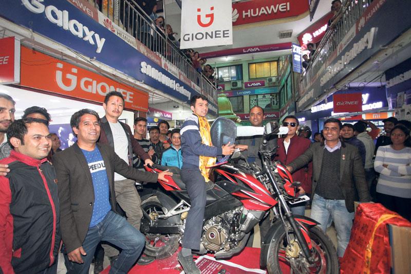 Prabin Silwal wins bike