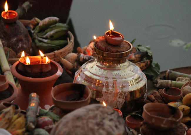 Chhath main day observed
