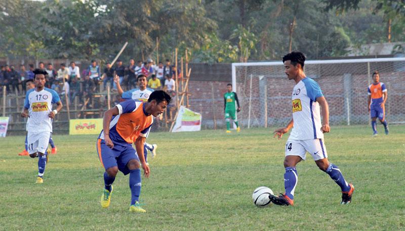 Jhapa enters semifinal in Duhabi