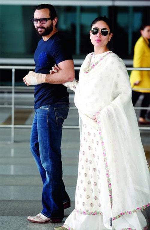 Saif Ali Khan, Kareena Kapoor deny undergoing sex determination test for their baby