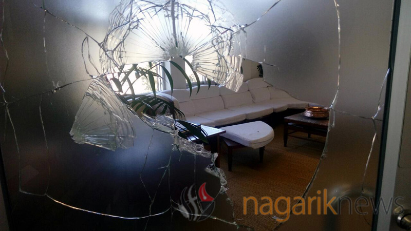 KU VC's office vandalized