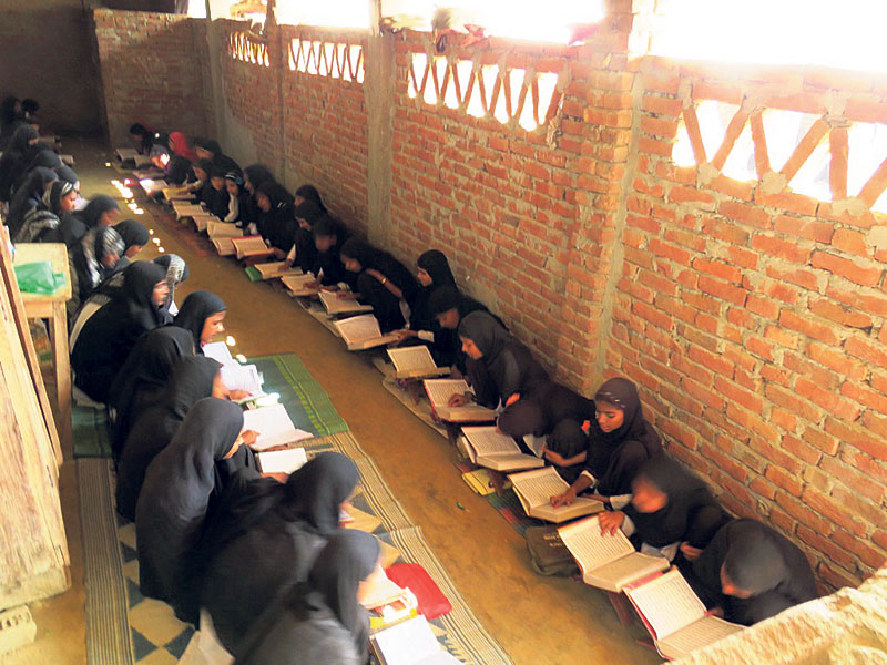 Muslim daughters start going to school