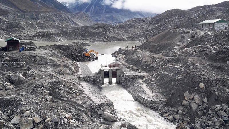 Nepal Army drains 3 mile-high glacial lake