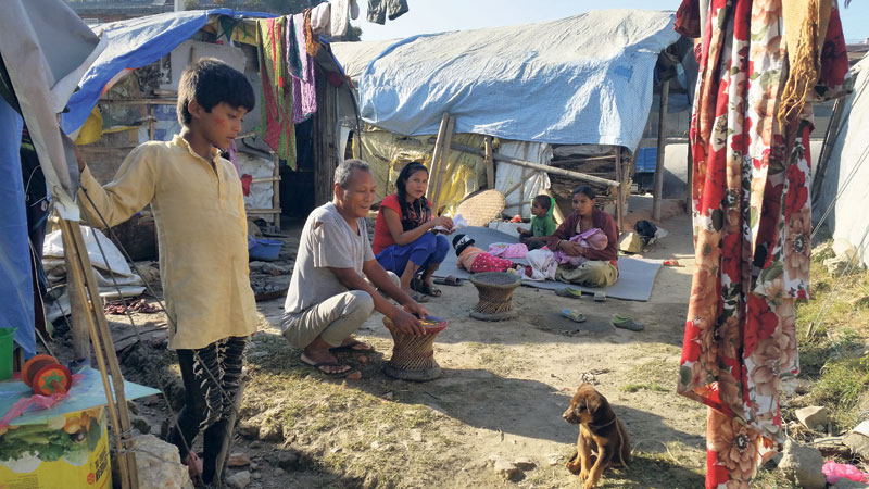 Harsh winter ahead for quake victims living under tents & My Republica - Harsh winter ahead for quake victims living under tents