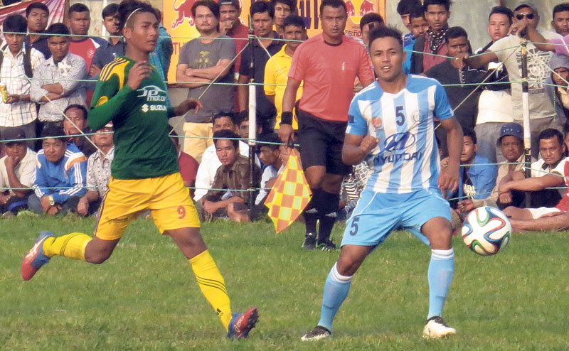 Manang thumps home team Chitwan for semifinal spot