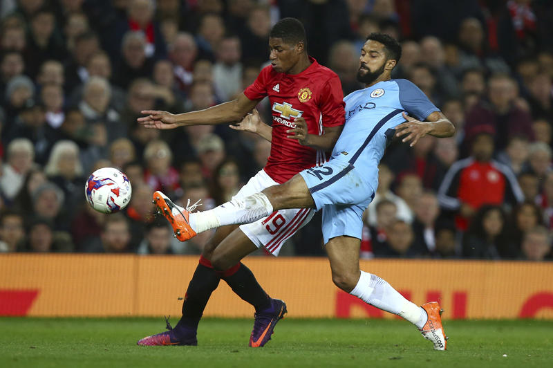 United beats City 1-0 in derby match in English League Cup