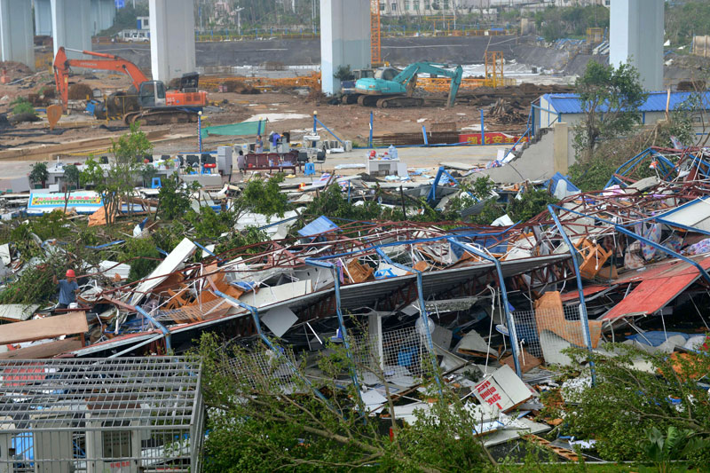 Death toll rises to 15 after typhoon lashes China, Taiwan