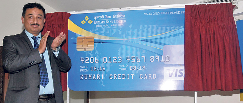 Kumari Bank launches credit cards