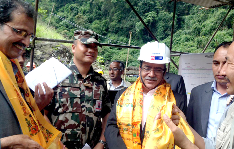 PM Dahal inspects Melamchi project