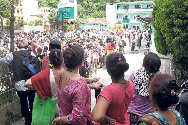 Bomb blasts spread terror among school children