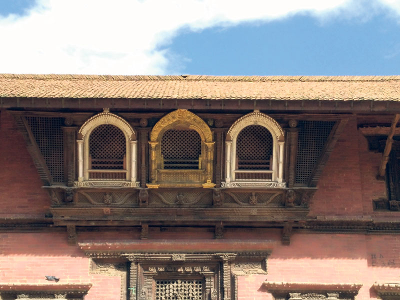 17th-century window set at Patan Durbar Square restored