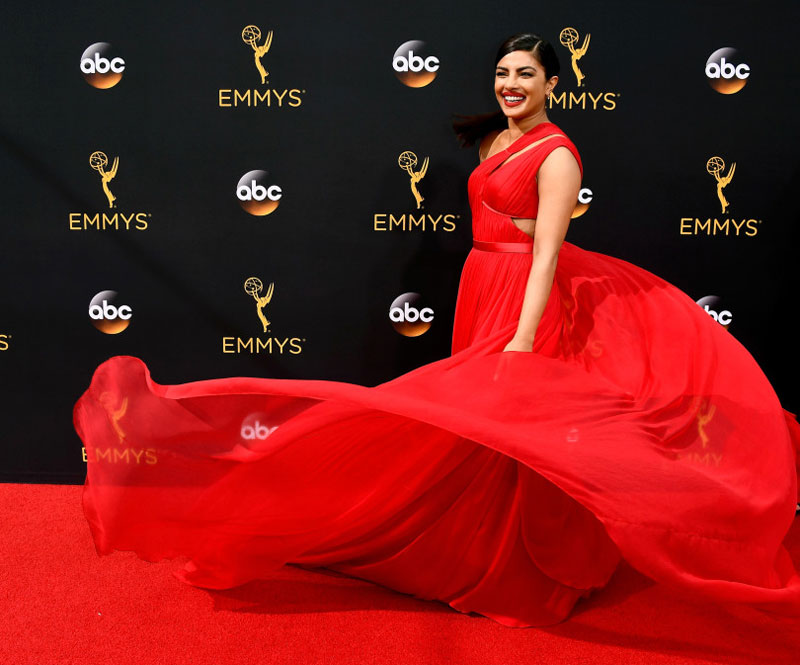 Priyanka Chopra keeps it 'simply red' at Emmys red carpet