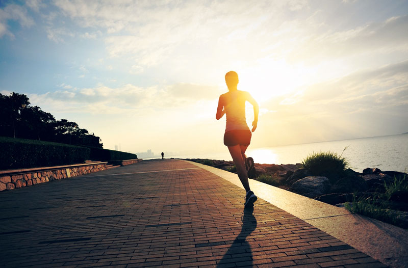 Morning exercise to increase productivity