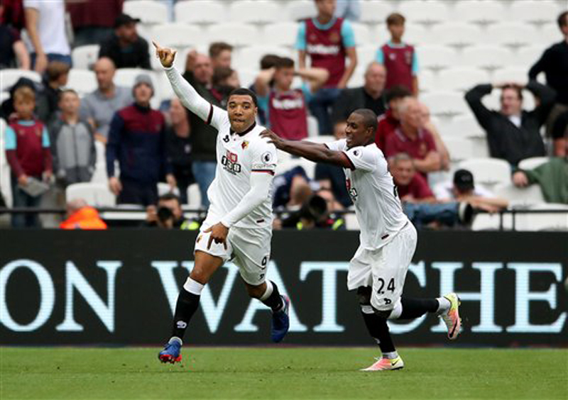 Watford rallies for 4-2 win over West Ham in Premier League
