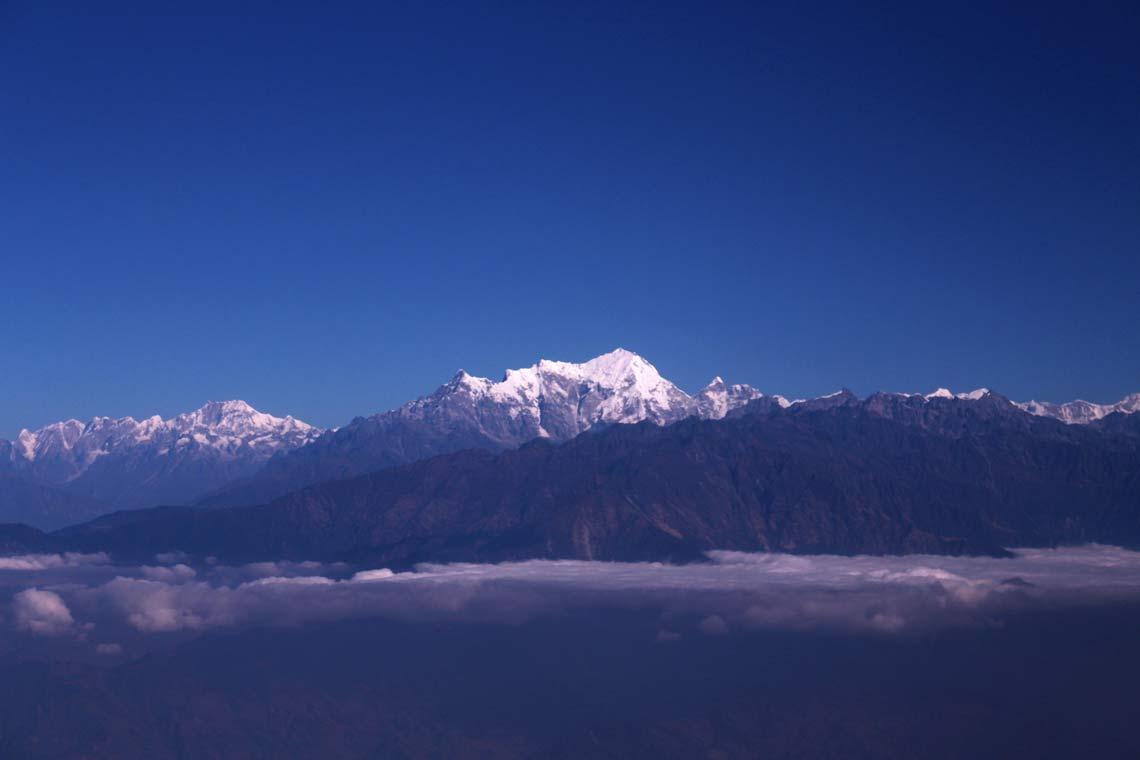 Breathtaking aerial view of vicinity of Kathmandu Valley