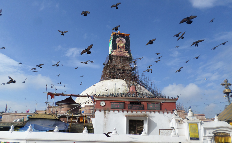 30 kg gold used for Boudhanath Stupa reconstruction