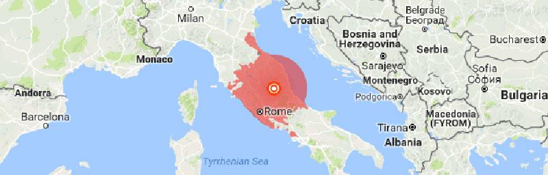 Magnitude 6.1 quake rattles Rome, central Italy