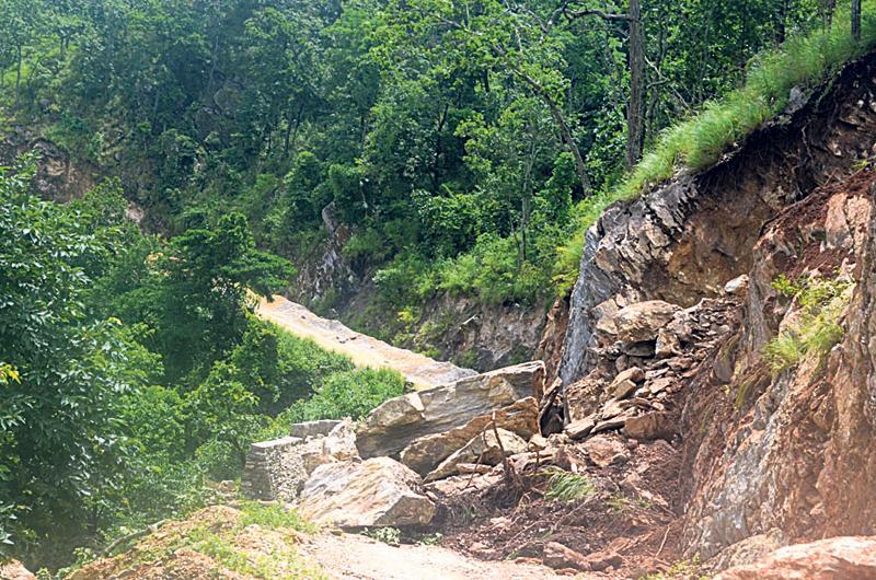 Mid-Hill Lokmarga Highway faces contractor delays