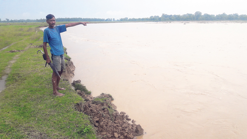 Land erosion continues in Kailali