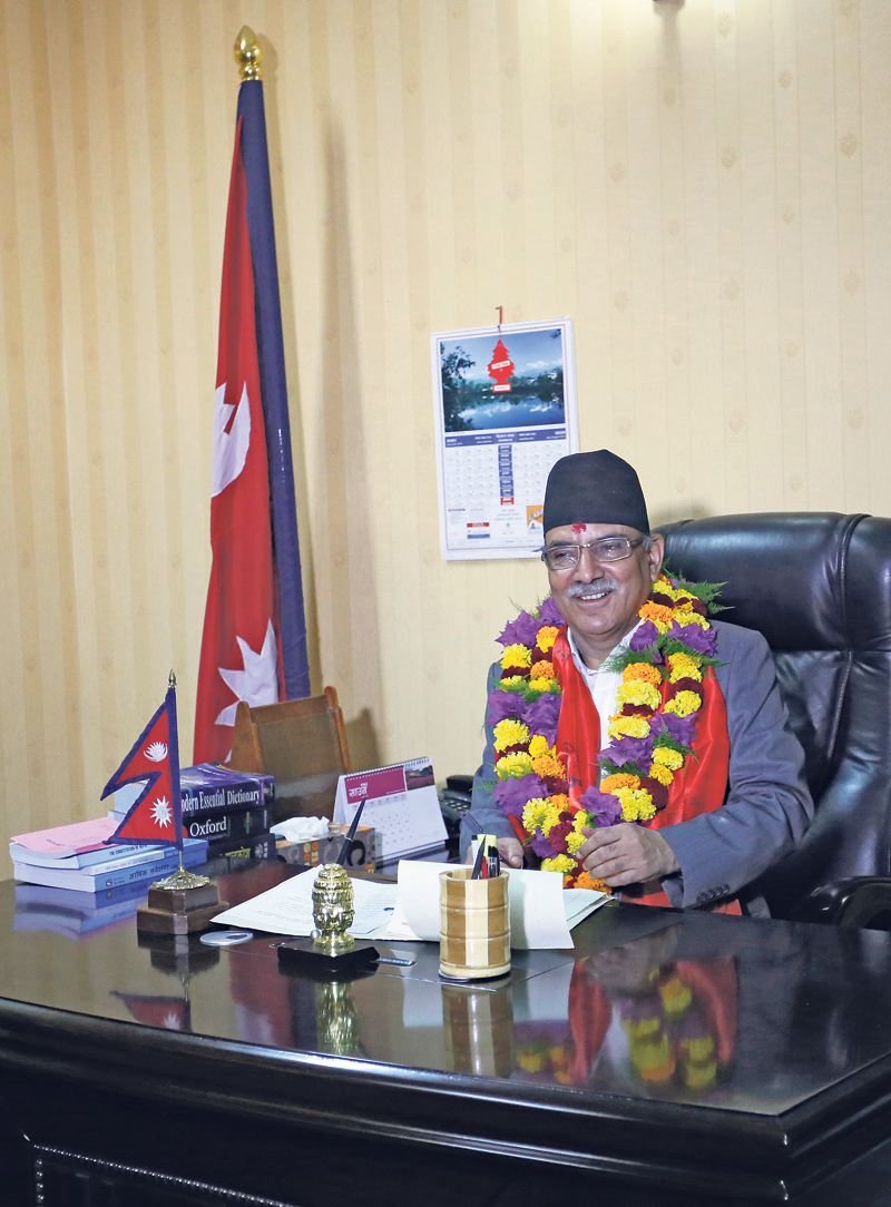 PM Dahal forms six-member cabinet