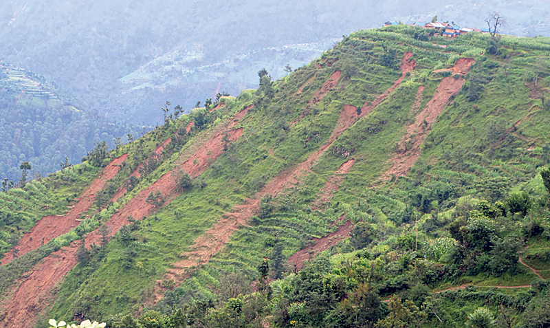 Landslides threaten many settlements across Pyuthan