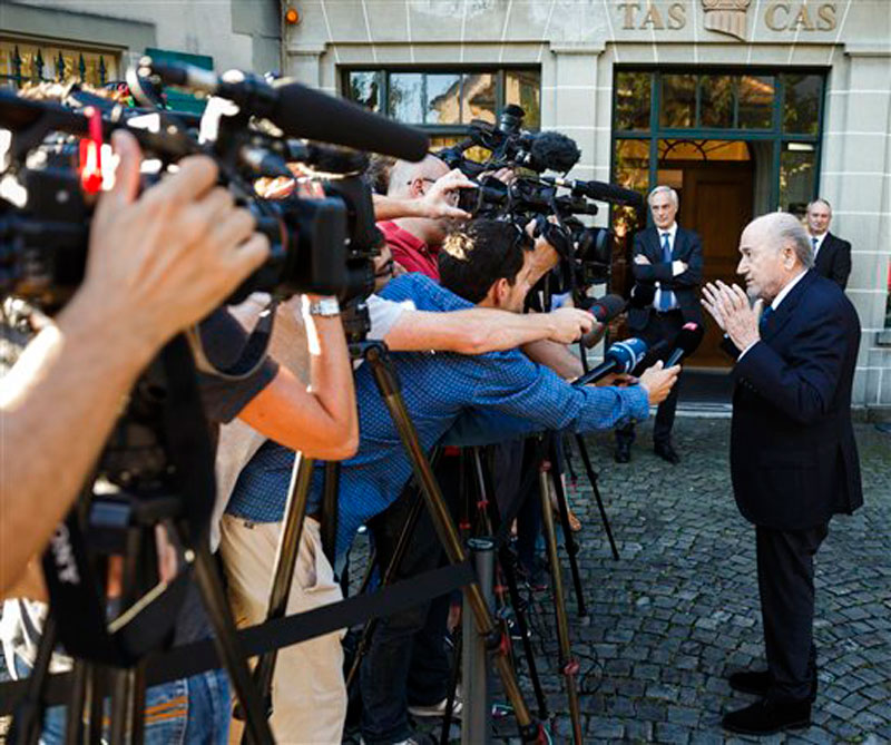 Blatter says he will accept verdict as CAS appeal begins