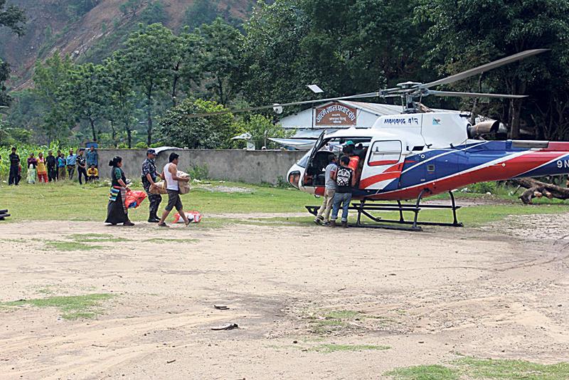 Rural Gorkha relies on chopper during emergency