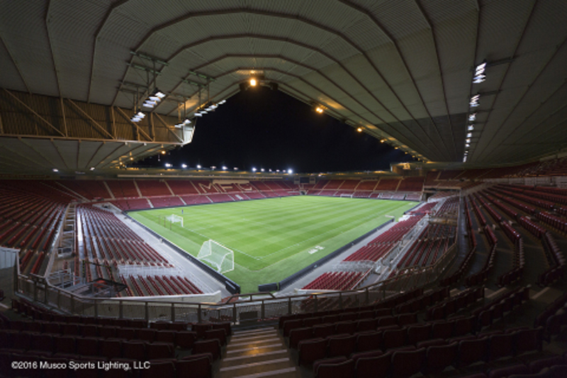 Middlesbrough FC Becomes Latest Premier League Club to Feature Musco LED Floodlights