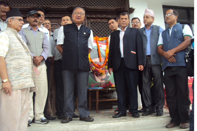 In memory of BP, tree saplings planted in Sanepa